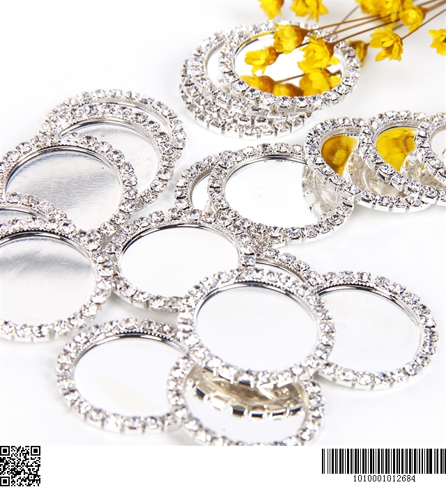 "inside:1"" 25mm rhinestone center diamond cameos"