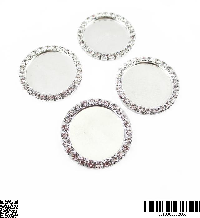 "inside:1"" 25mm rhinestone center diamond cameos"