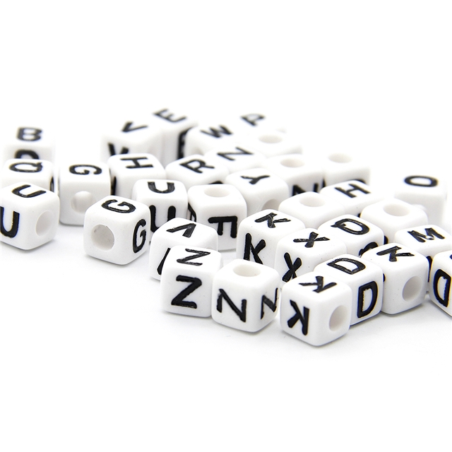 bore a hole letter beads(20g/pack)